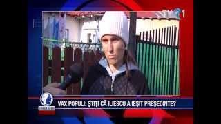 Vax Populi: Știți că a ieșit Iliescu din nou președinte?