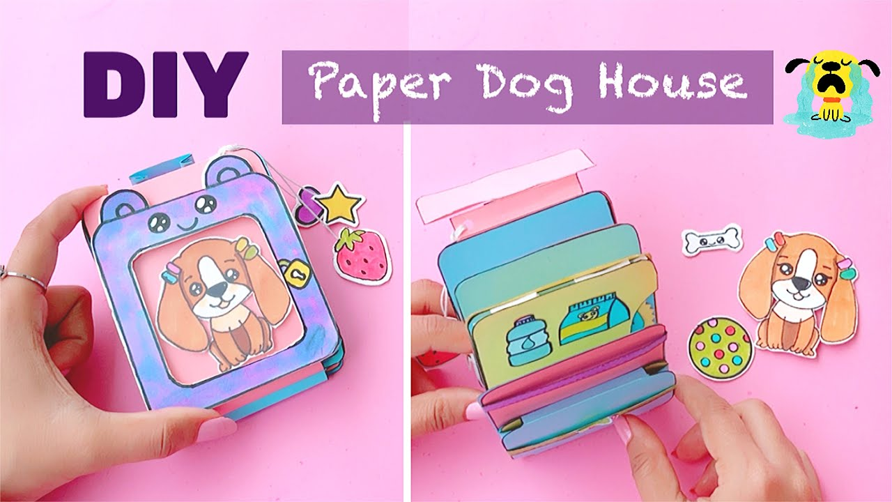 DIY Paper Doll Dog house Tutorial | Paper Dog Draw And Play Tutorial Quiet Book |Paper Crafts