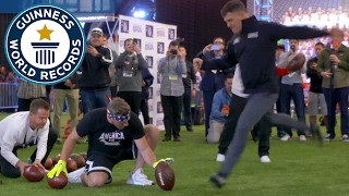 Adam Vinatieri: Most American football field goals in one minute - Guinness World Records