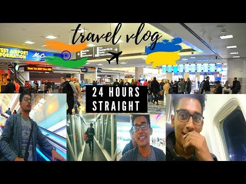Travel vlog | India to Ukraine | 24hours of travel | shot on honor