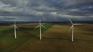 Wind Farm in Oregon | Drone Video