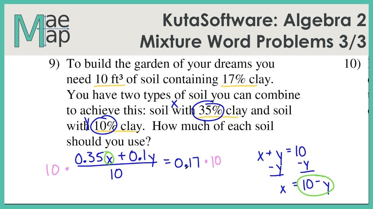 mixture problems with solutions pdf