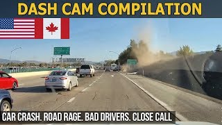 Dash Cam Compilation (USA, Canada) Car Crashes in America 2017 2018 # 19