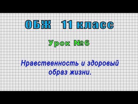 ОБЖ 11 класс (Урок№6 - Нравственность и здоровый образ жизни.)