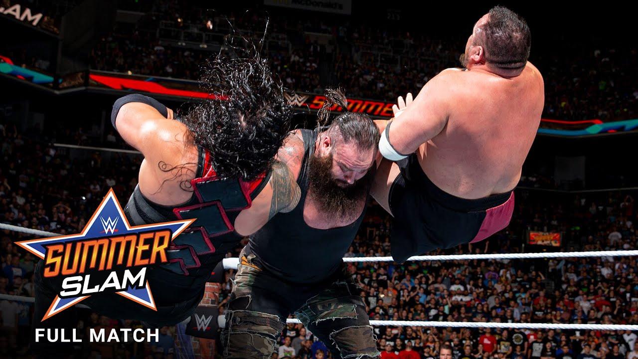 Download FULL MATCH: Lesnar vs. Reigns vs. Joe vs. Strowman - Universal Title Match: SummerSlam 2017