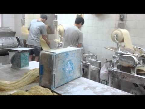 Hong kong noodle machine test in noodle factory