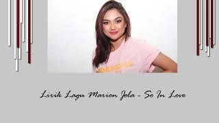 Marion Jola So In Love Lyrics