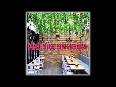concept of interior and exterior cafe design as creative idea by babeh street cafe surabaya