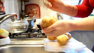 Жюльен в корзинке из печеного картофеля!
