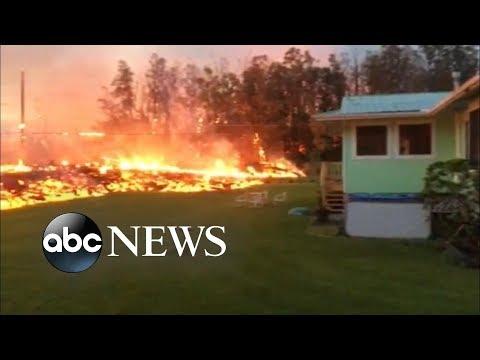 Hawaii volcano spews lava, toxic gases