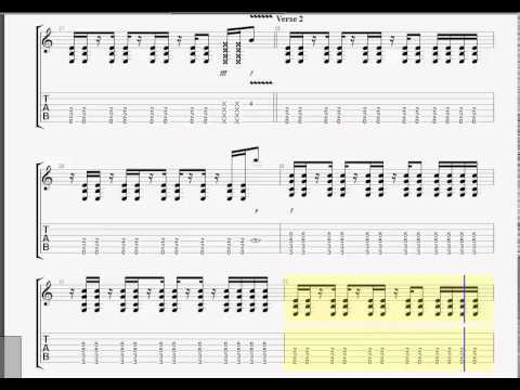 Evanescence Bring Me To Life Guitar Tab Youtube