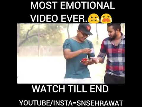 Most Emotional Video Ever - Watch Till End By Techno Anuj