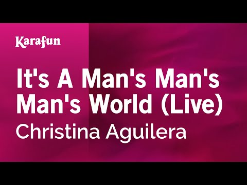Karaoke It's A Man's Man's Man's World (Live) - Christina Aguilera *