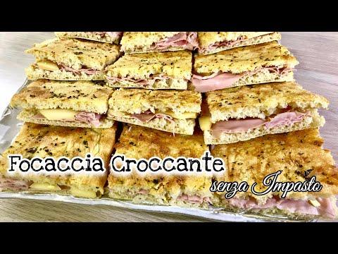 FOCACCIA CROCCANTE SENZA IMPASTO ricetta facile CRISPY FOCACCIA - Tutti a Tavola