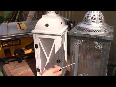 Fixing the Lanterns we found in the PIER 1 dumpster
