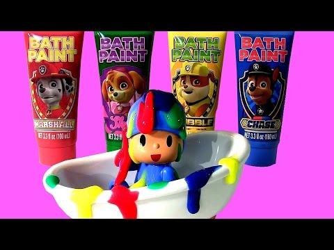 Disney Frozen Bath Paint Paw Patrol With Bathtime Toys