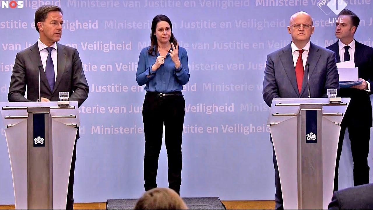 Persconferentie Rutte, Grapperhaus, De Jonge En Van Rijn