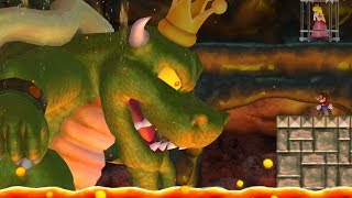 New Super Mario Bros Wii - King Koopa Boss Battle