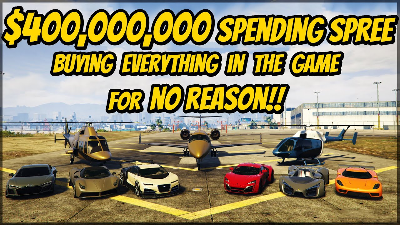 Spending 0,000,000 in GTA 5 Online AGAIN for No Reason (December 2020) | GTA Spending Spree