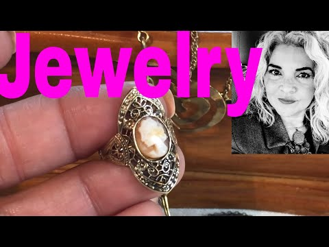 Jewelry Unboxing My Auction Win! Vintage Jewelry Box Full Of Jewelry