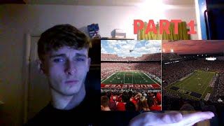 British soccer fans first time reaction to American Football - REACTING TO COLLEGE FOOTBALL STADIUMS
