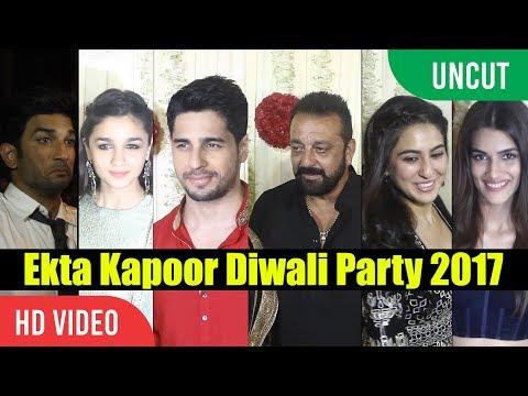 UNCUT - Ekta Kapoor's Diwali Party 2017 | Sanjay Dutt, Sushant Singh, Alia Bhatt, Akshay Kumar