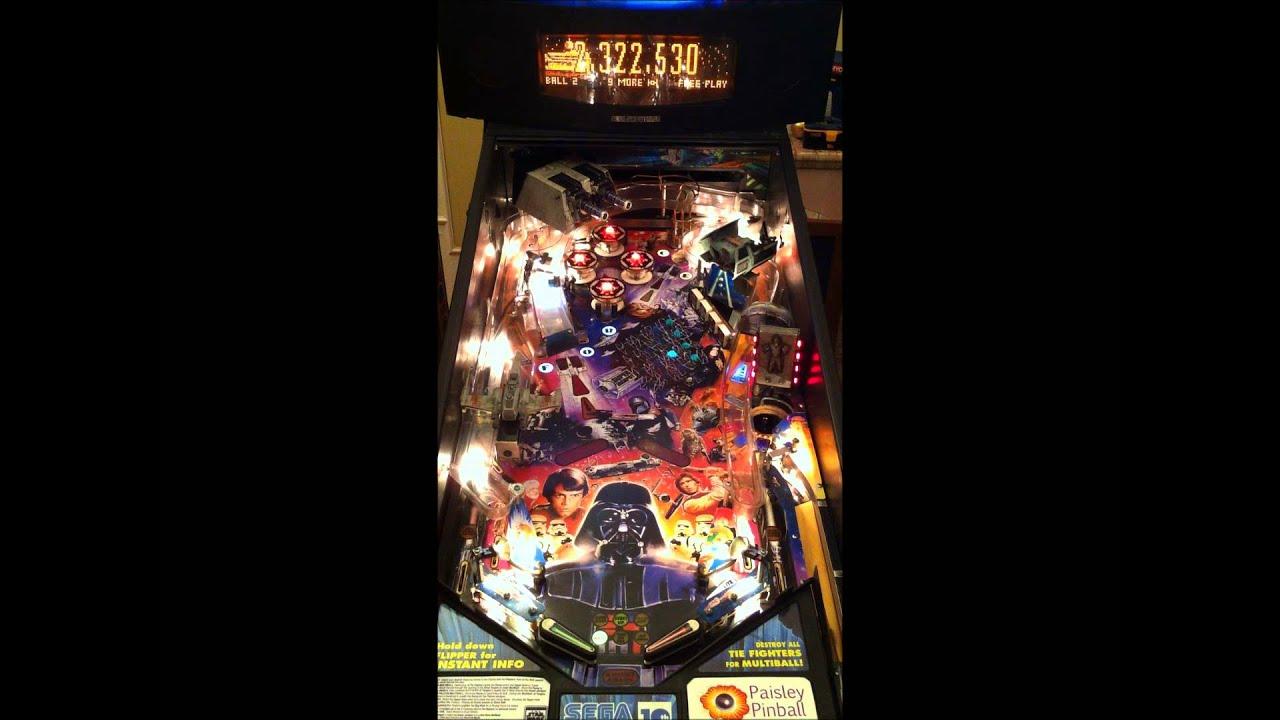 Star Wars Pinball Machine >> Star Wars Trilogy pinball machine by Sega gameplay - YouTube