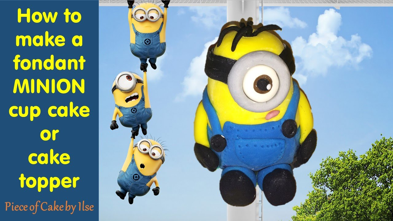 How to make a despicable me fondant minion model cup cake or how to make a despicable me fondant minion model cup cake or cake topper step by step tutorial youtube baditri Image collections