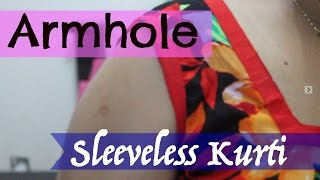 Piping on Armhole- Sleeveless Kurti(, 2015-08-27T10:30:48.000Z)