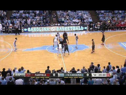 Fairfield vs (1) North Carolina Full game NCAA basketball 2015 / 11.15.2015