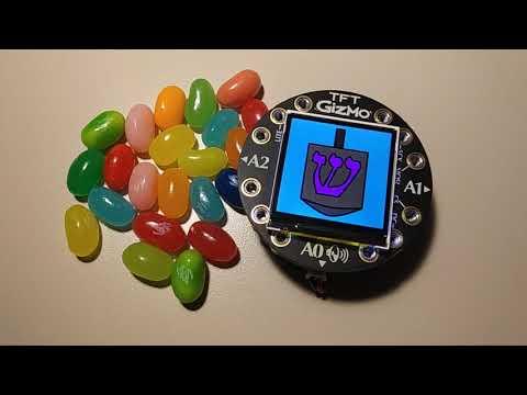 Circuit Playground Bluefruit + TFT Gizmo CYBER-DREIDEL