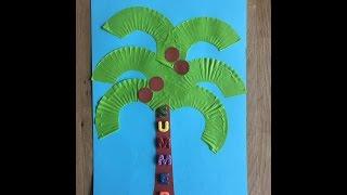 Аппликация из бумаги - Кокосовая пальма