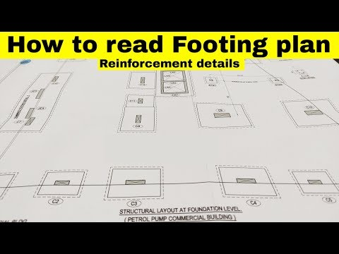 How To Read Footing Plan | Reinforcement Details Of Commercial Building