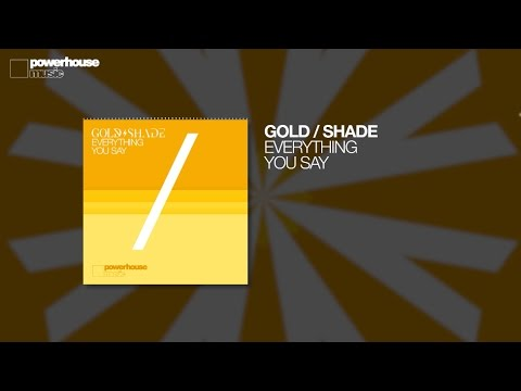 Gold/Shade - Everything You Say (Official audio)