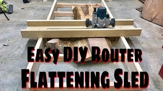 Making A Easy DIY Router Flattening Sled