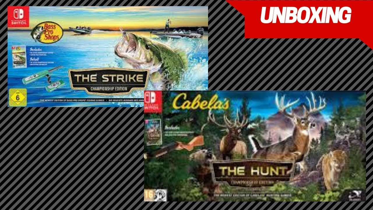 Bass Pro Shop The Strike & Cabela's The Hunt | Nintendo Switch Unboxing