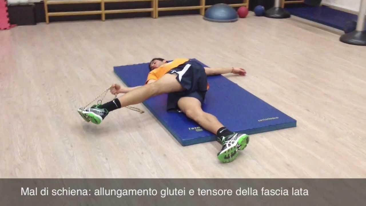 Mal di schiena 1 6 allungamento glutei e tensore della fascia lata youtube - Mal di schiena letto ...