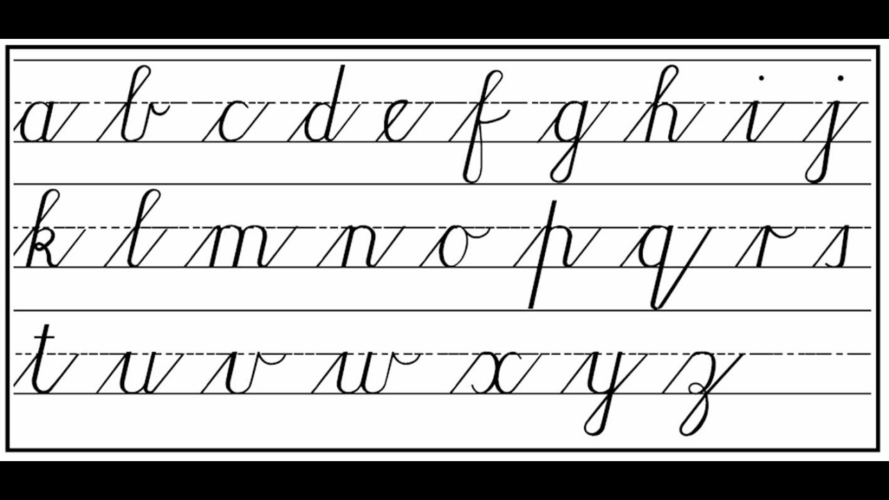 Worksheet Writing In Cursive how to write cursive step by youtube