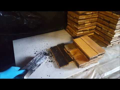 Cleaning Parquet Woodblocks Youtube
