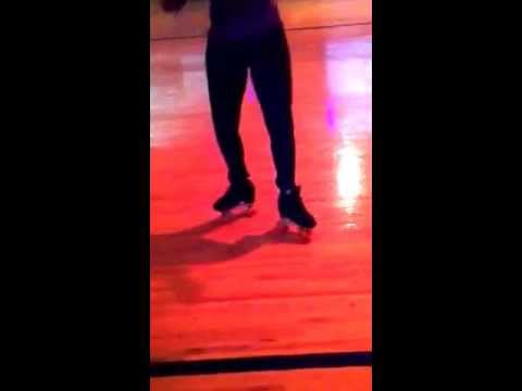 Gettn my footwork on at All American Skating Center