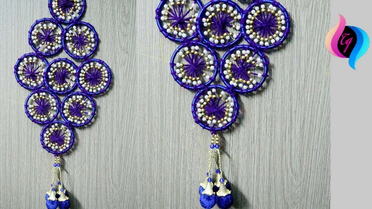 How To Make Bangles And Woolen Wall Hanging For Home Decor
