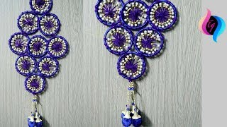 How to make bangles and woolen wall hanging for home decor - Use old bangles for decoration