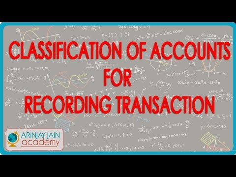 530.Accounts XI   Classification of accounts for recording transaction