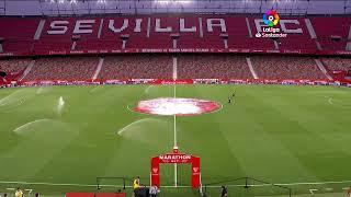 Calentamiento Sevilla FC vs SD Eibar