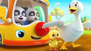 Gambar cover バスのダイヤ「The Wheels on the Bus」   英語の童謡   はたらく車   赤ちゃんが喜ぶ歌   子供の歌   童謡   アニメ   動画   ベビーバス  BabyBus