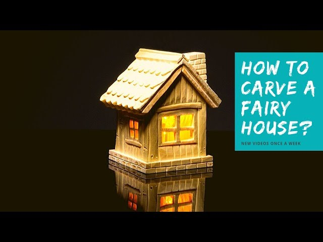 How to Carve a Fairy House? 🏠 I Easy Wood Carving for Beginners
