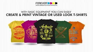 Термобумага Forever Flex-Soft (No-Cut). Как сделать принт на футболке с винтажным эффектом.