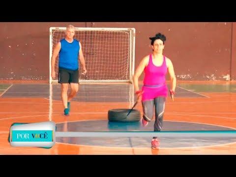 Por Você - Atividade Física: exercícios com pneus 18/08/18