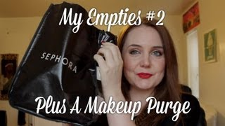 My Empties #2 Plus A Makeup Purge! | Bobbi Brown, Neutrogena, Covergirl, Revlon, Aveeno Thumbnail