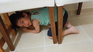 Evde saklambaç oynadık-gizli yerlere saklandık-eğlenceli çocuk oyunları videosu